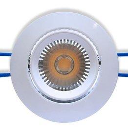 Ledika LED Inbouwspot wit 6W kantelbaar warm wit dimbaar