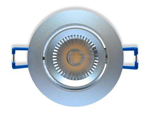 Ledika LED Inbouwspot zilver 6W kantelbaar warm wit dimbaar
