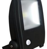 Ledika LED Schijnwerper 50W 3500lm IP65 interne PIR sensor daglicht wit