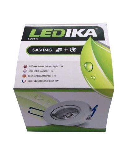 Ledika LED Inbouwspot 1W warm wit
