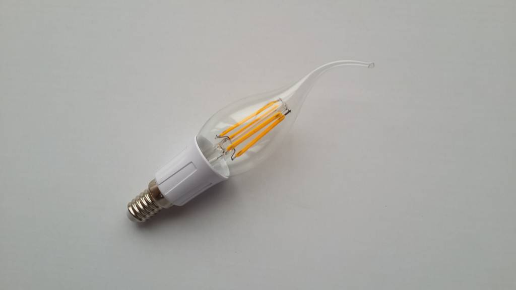 Ledika LED Kaars Filament E14 2W warm wit dimbaar
