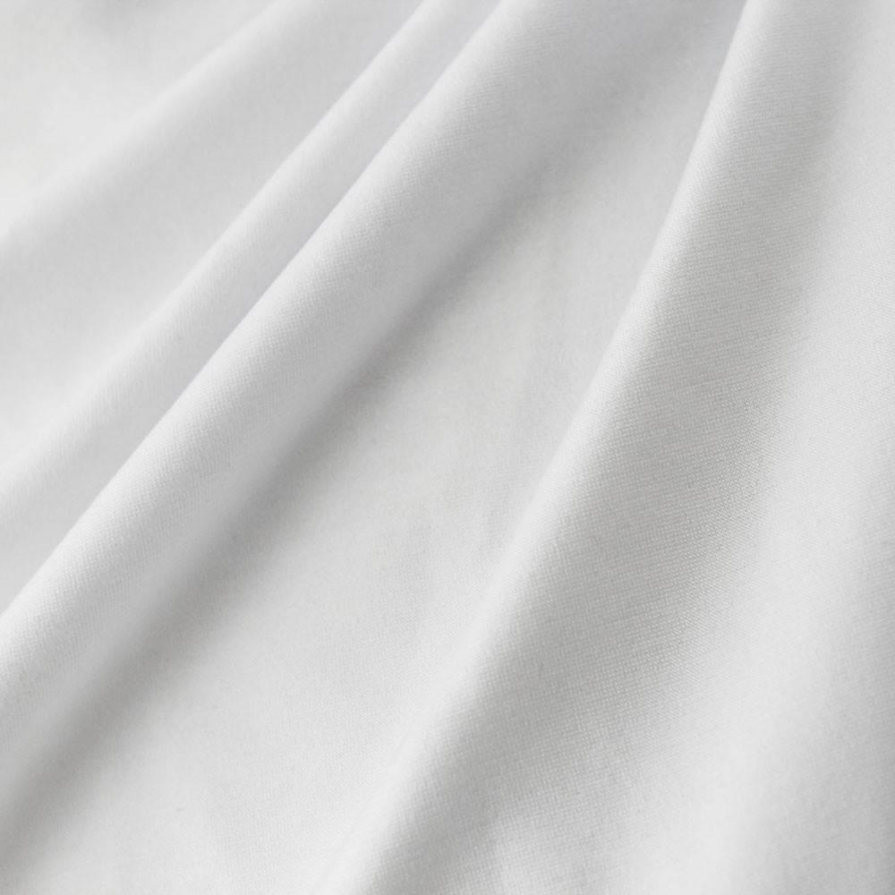 Stretch katoen stof wit