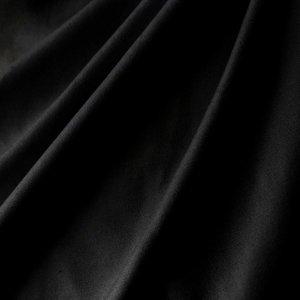 Stretch katoen stof zwart