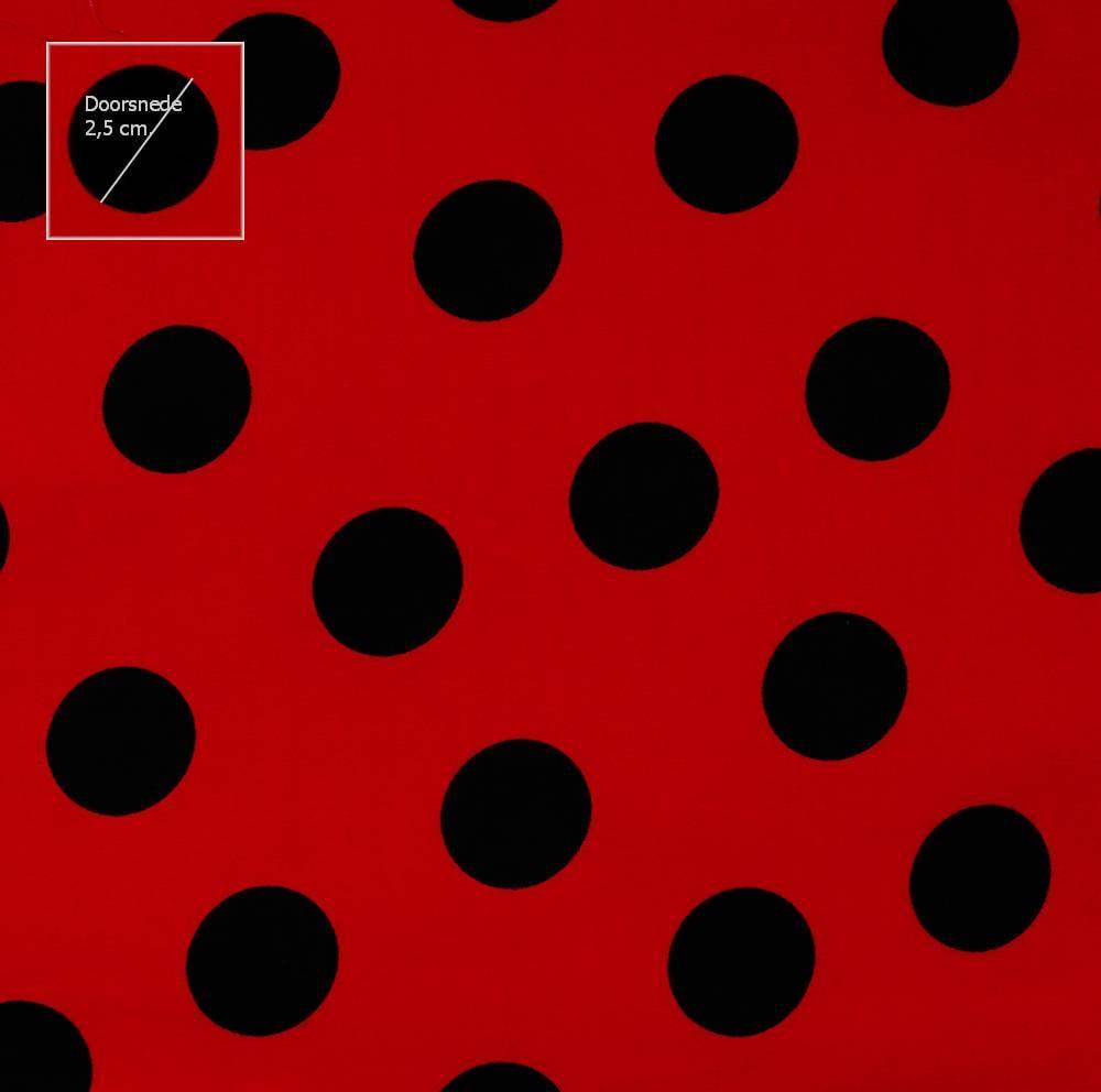 Stippen polkadots ontdek het grootte assortiment stoffen online - Eetkamer rood en zwart ...