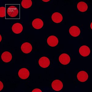 Stippen Zwart/rood groot