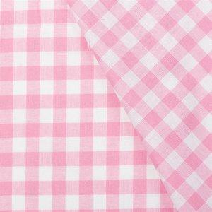 Boerenbont ruit Roze 1 cm