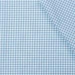 Boerenbont ruit stof, licht blauw 2 mm