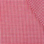 Boerenbont ruit stof, rood 2 mm