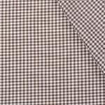 Boerenbont ruit stof, bruin 2 mm
