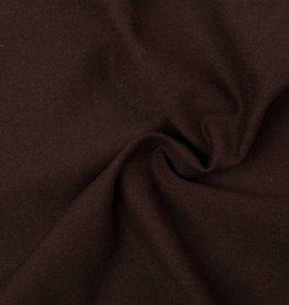 Tricot stof Donker bruin