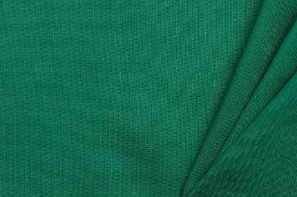 Uni katoen stof, groen
