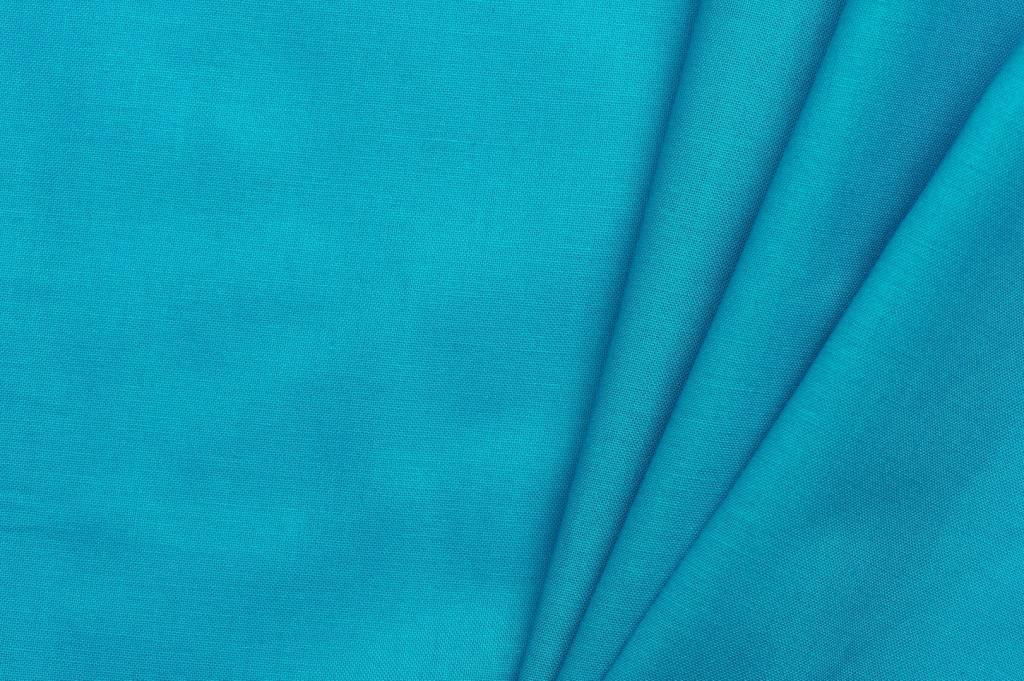 Uni katoen stof, turquoise
