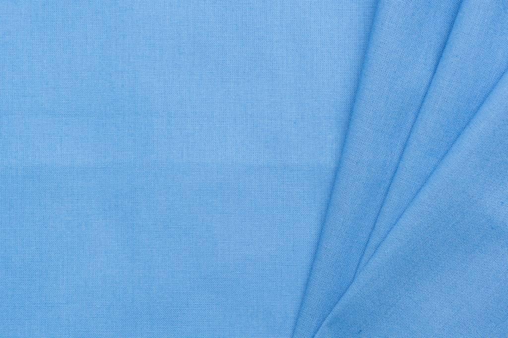 Uni katoen stof, blauw