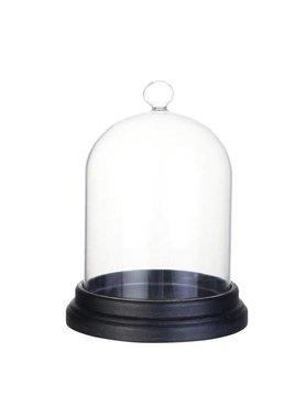 Lene Bjerre Glasglocke mit Unterteller schwarz