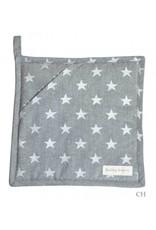 Artefina 2 Topflappen grau mit Sternen
