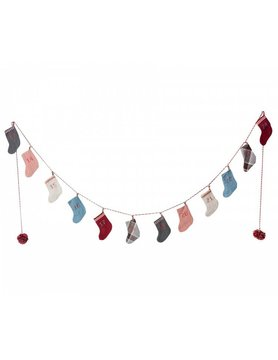 Maileg Adventskalender Girlande 12 Socken