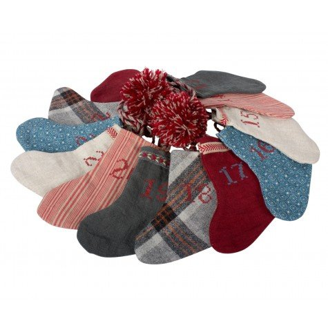 Maileg Adventskalender Girlande 12 Socken + Dose