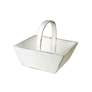 IB Laursen Wood basket white