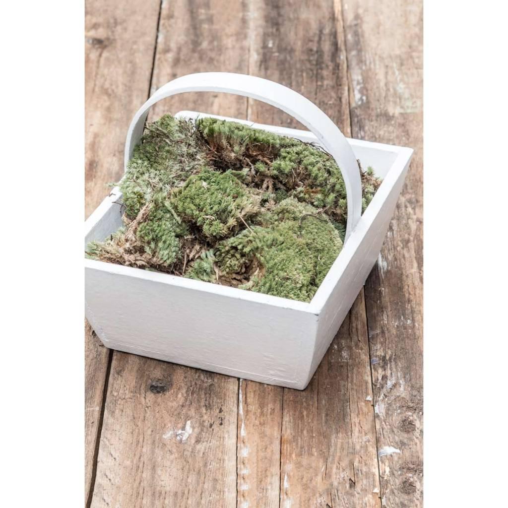 IB Laursen Wood basket white