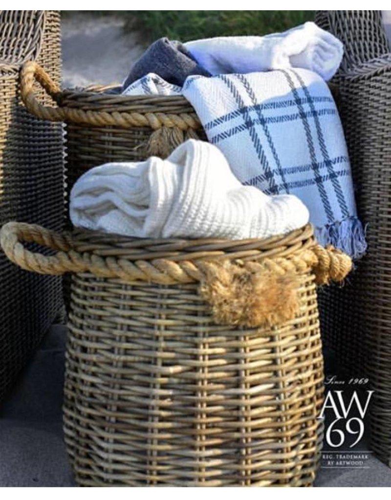 Artwood Rattan Basket L