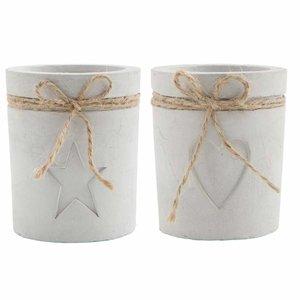 IB Laursen Teelichthalter mit Juteband