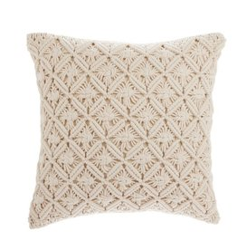 J-Line Macrame Cushion