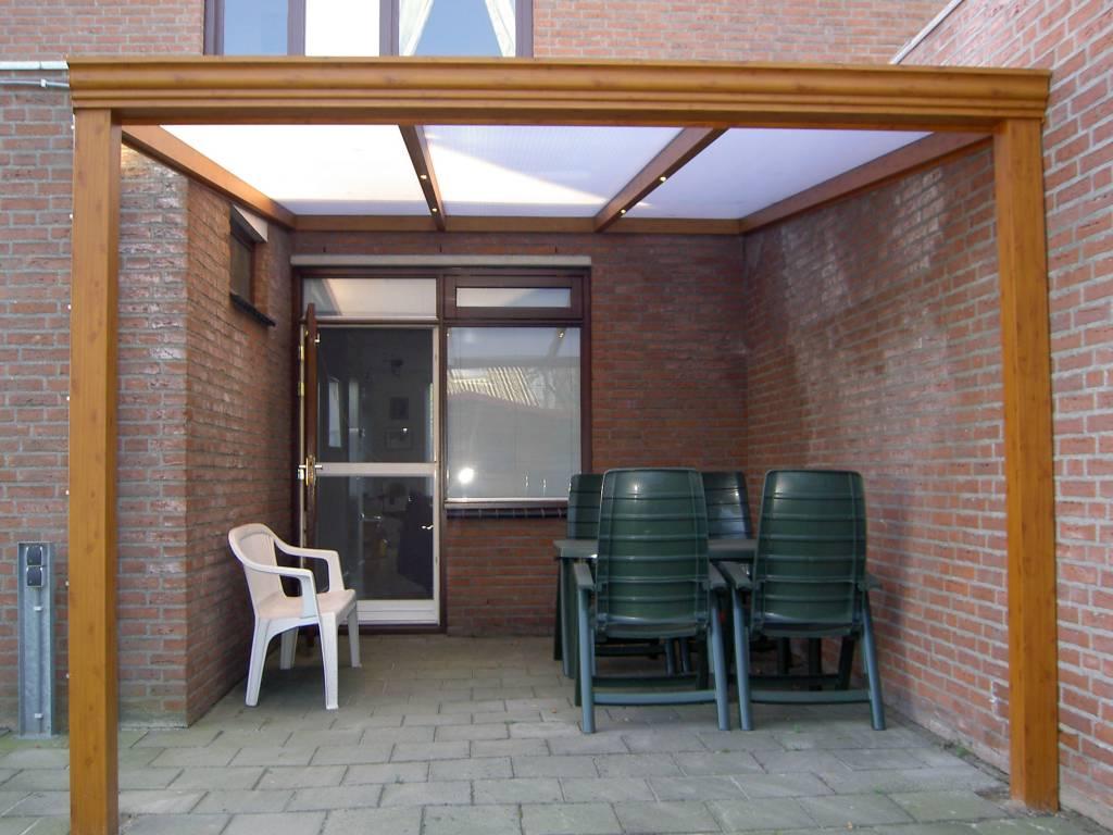 Projecten agaterras terrasoverkapping - Veranda met muur ...