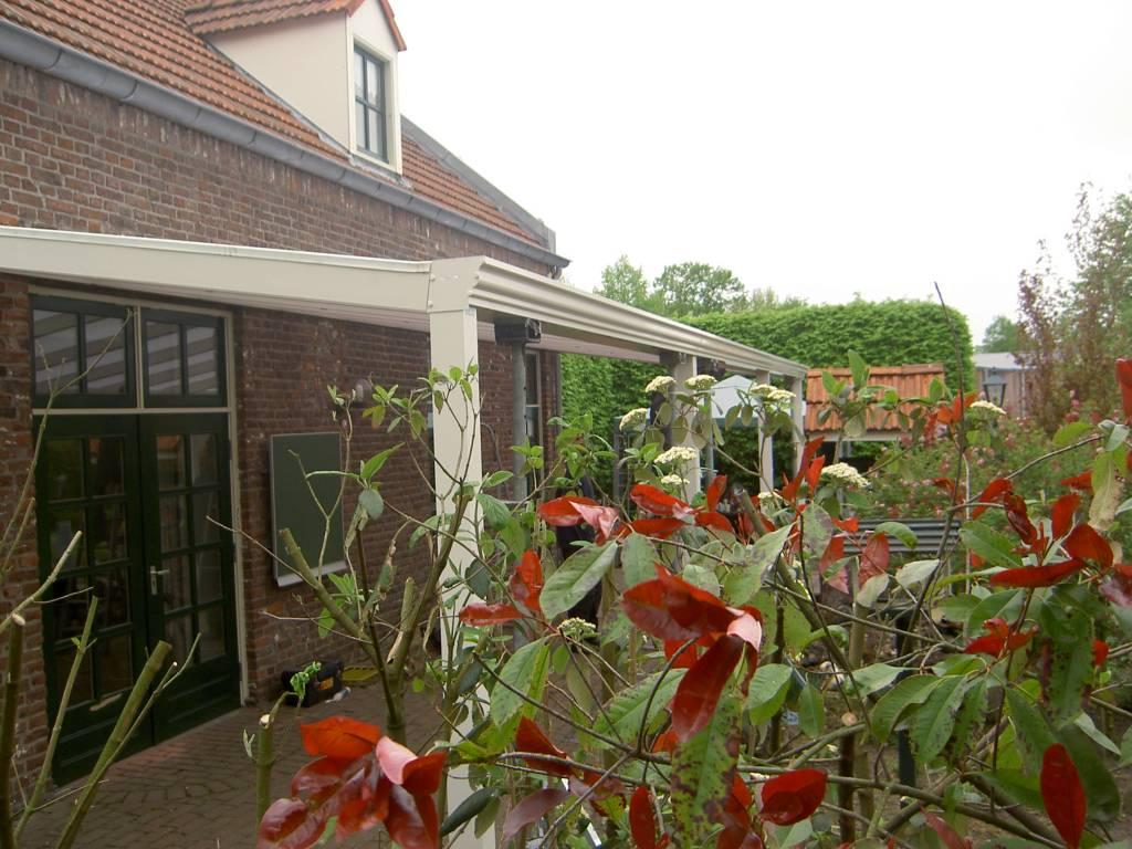 Meijel Limburg terasoverkapping veranda gemonteerd door A.G.A.Terras
