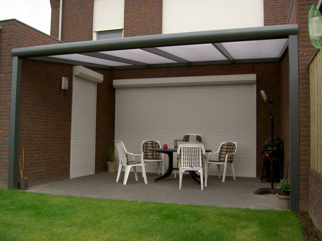 Rotterdam terrasoverkapping veranda gemonteerd door A.G.A.Terras