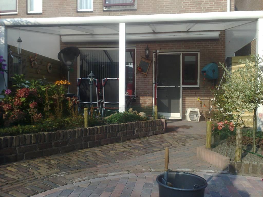 Deurne Brabant terrasoverkapping veranda gemonteerd door A.G.A.Terras