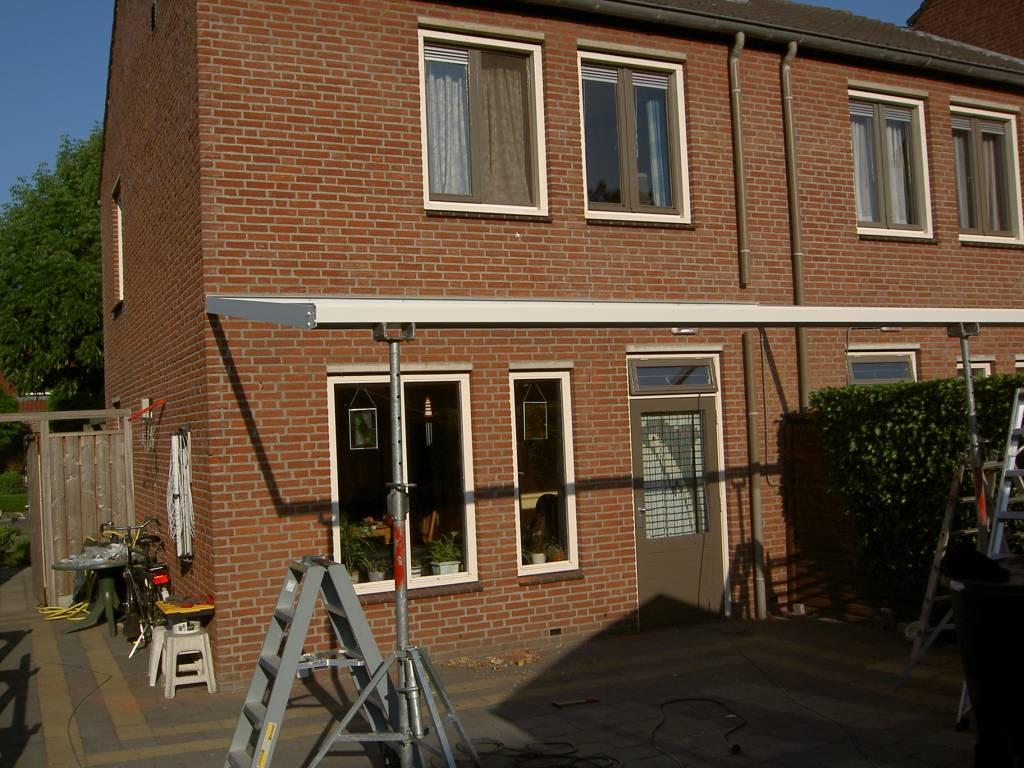 Meijel Limburg terrasoverkapping veranda gemonteerd door A.G.A.Terras