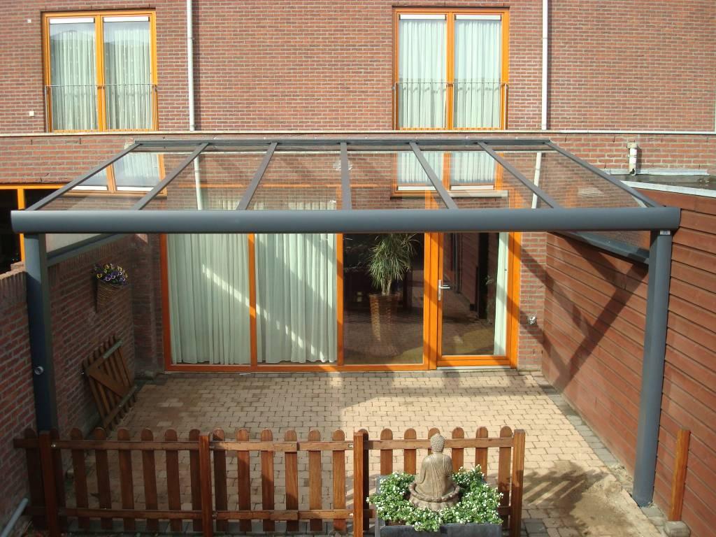 Veldhoven Brabant terrasoverkapping veranda gemonteerd door A.G.A.Terras
