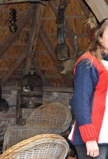 """""""Coina"""" poncho trui in rood wit en blauw"""