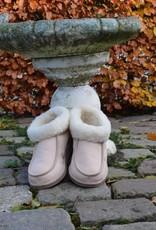 """""""Terrugem"""" lamsvacht wollen Pantoffels/sloffen met meer ruimte bij de tenen."""