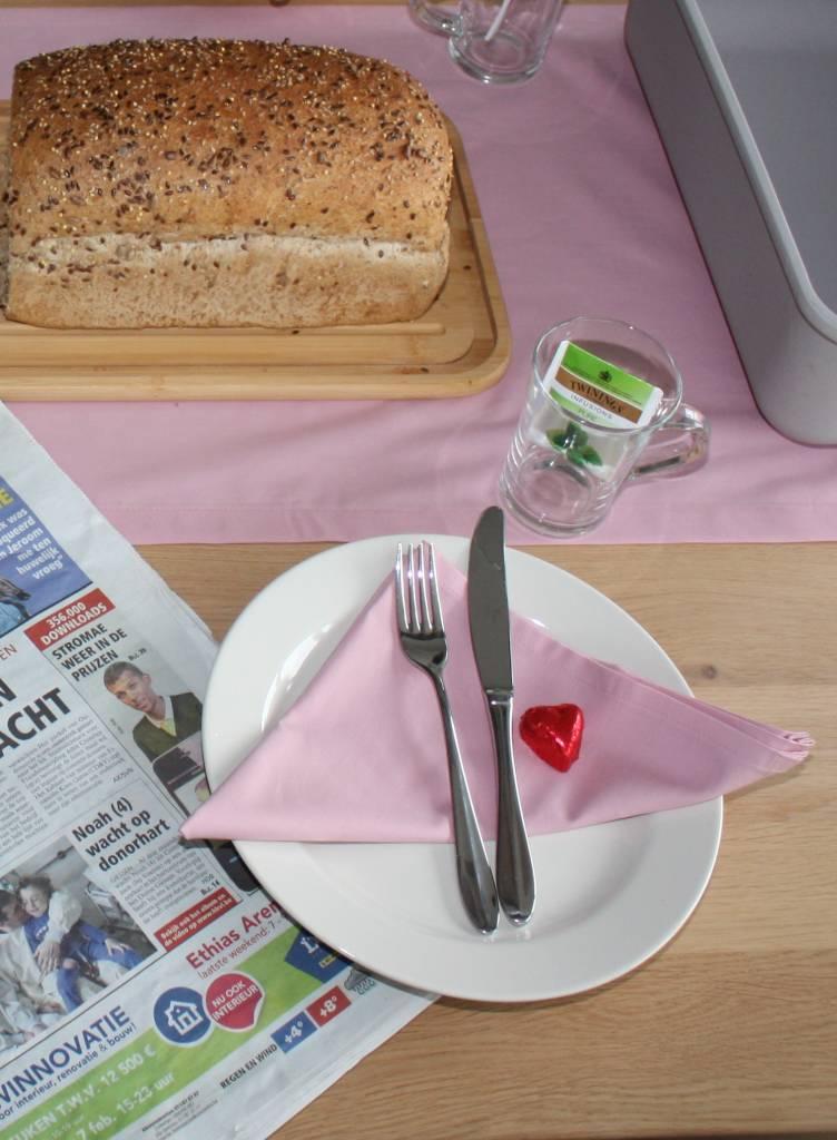 Set van 4 servetten - Effen roze