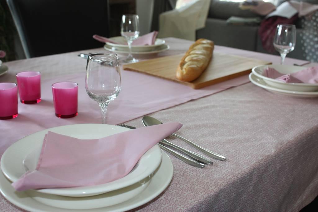 Servetten - set van 4  - Effen roze