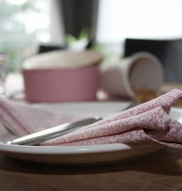 Set van 4 servetten - Romantisch roze