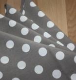 Set van 4 servetten - Grijs met bolletjes