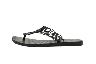 Slippers - Acacia - Zwart- X-Large-Laatste stuk!