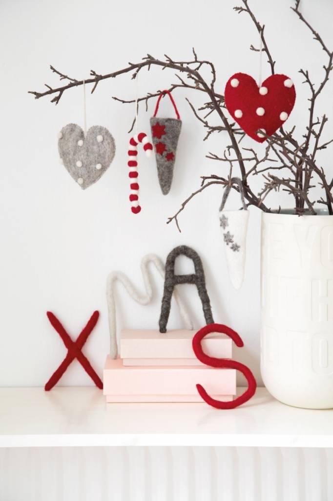 Kersthartjes (3 st)