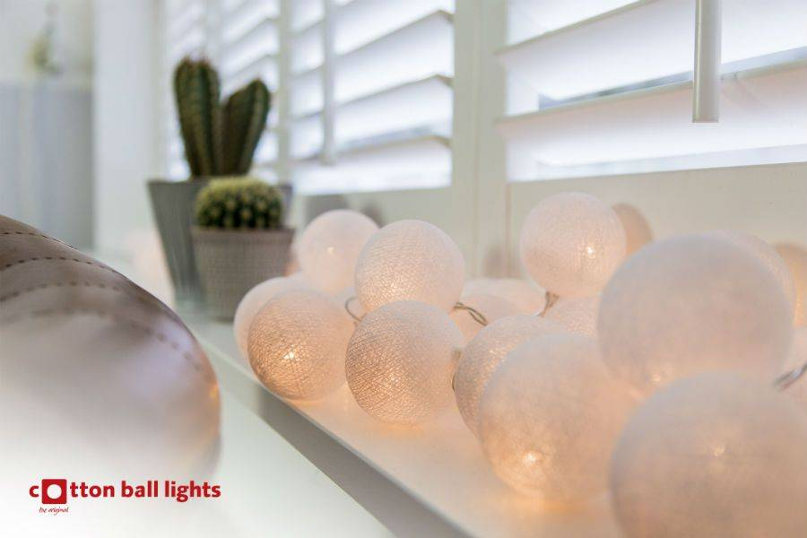 Cotton Ball Lights 20 - White