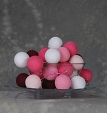 Cotton Ball Lights 35 - Pink