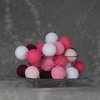 Cotton Ball Lights 35 - Pink