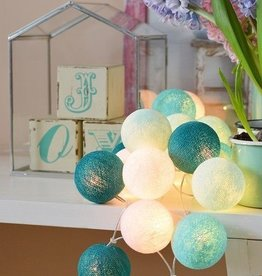 Cotton Ball Lights 35 - Aqua