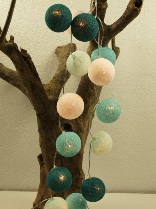 Cotton Ball Lights 35 - Aqua