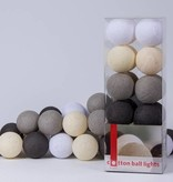 Cotton Ball Lights - Taupe