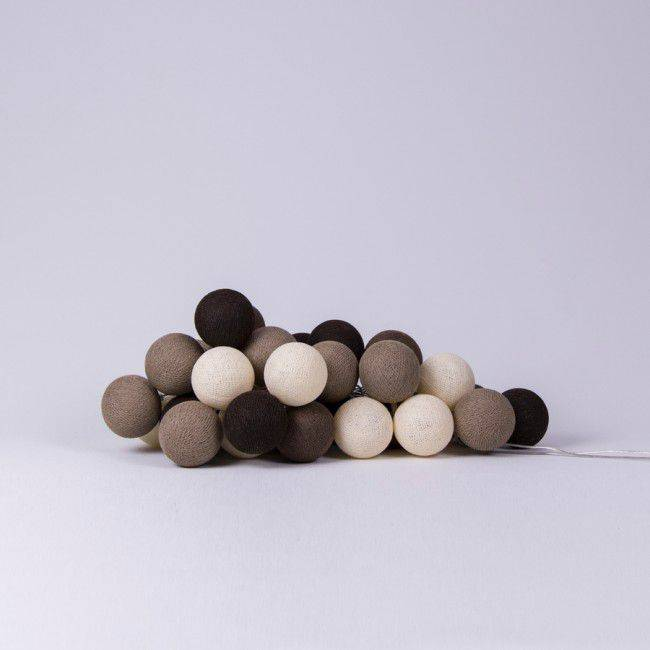 Cotton Ball Lights 20 - Brown