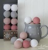 Cotton Ball Lights - Dirty Pink