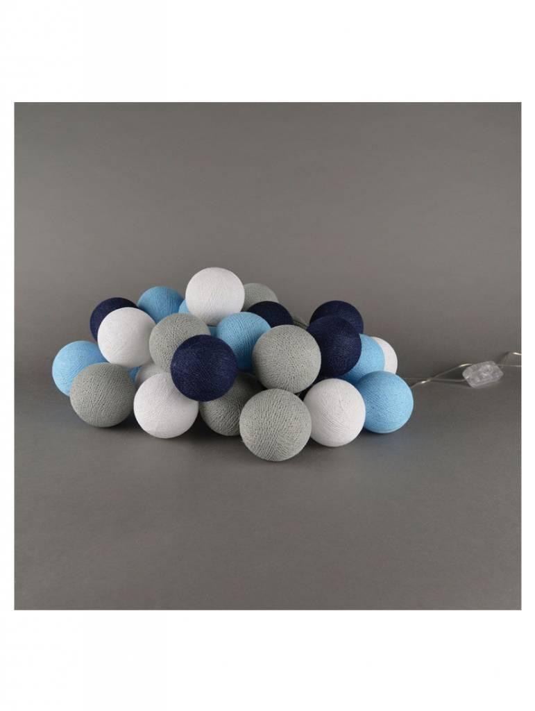 Cotton Ball Lights 20 - Sailor Blue