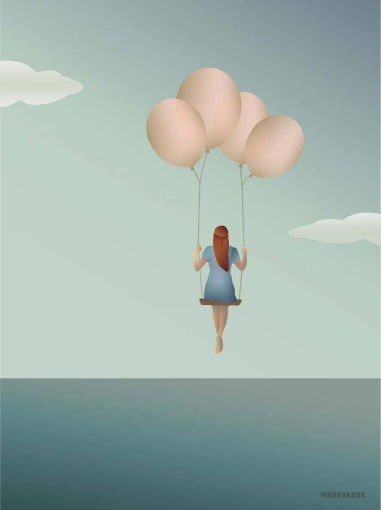 Poster Vissevasse - Balloon Dream - 3 maten